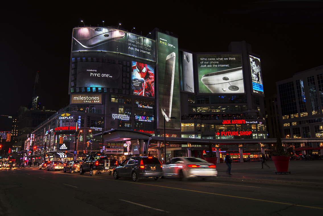 HTC One DOOH – Dundas Square